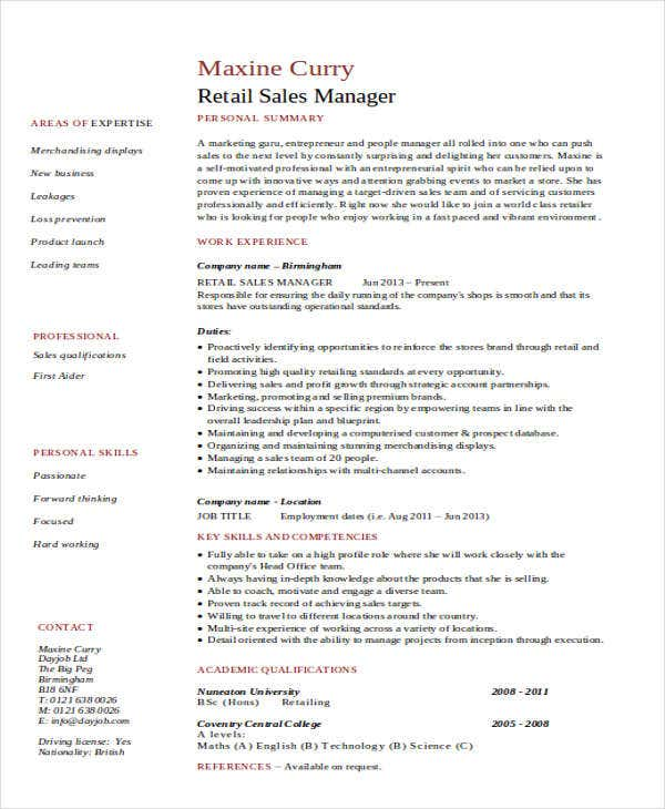 28 retail management resume sles retail manager resume