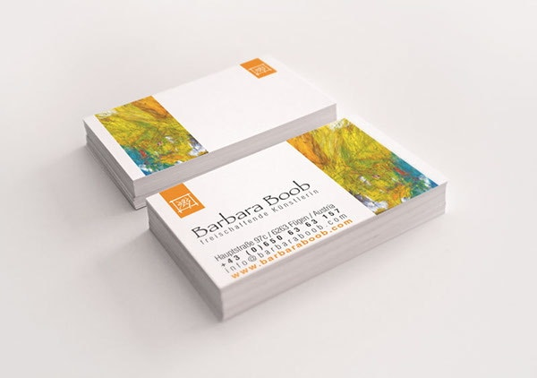 modern artist business card - Artist Business Cards