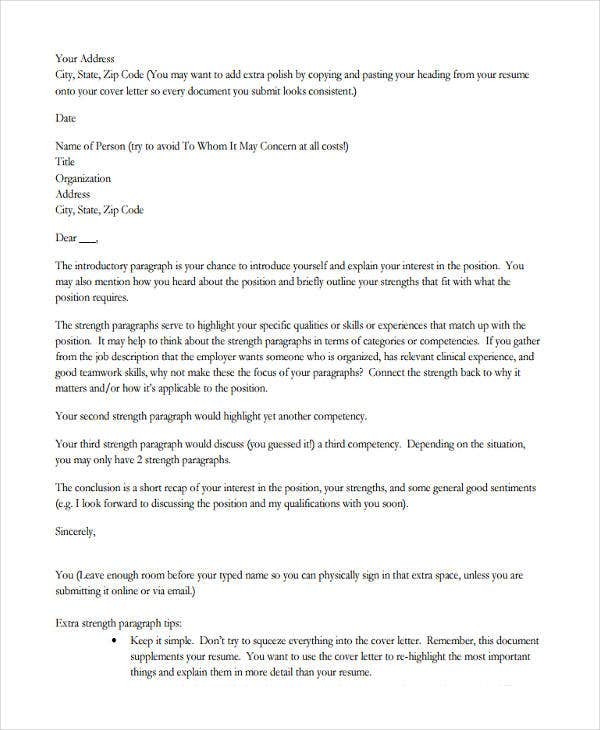 43 formal application letter template free premium templates