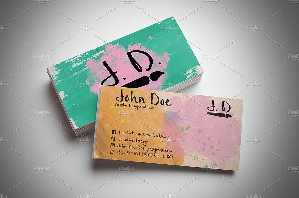 colorful artistic business card1