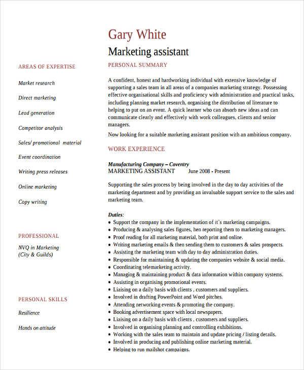 27 Marketing Resume Templates In Pdf Free Amp Premium
