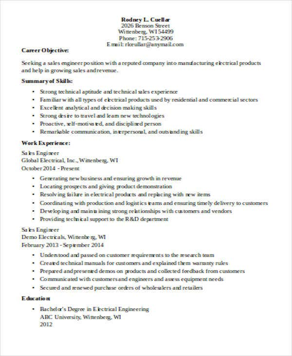 construction sales engineer resume1