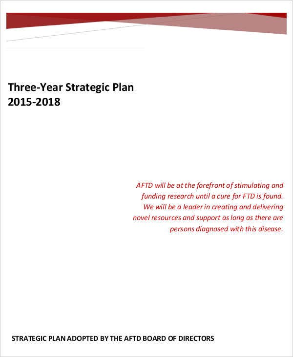 3 year business strategic plan