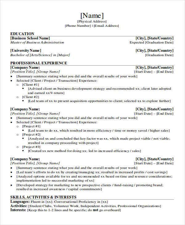 44 sales resume design free premium templates