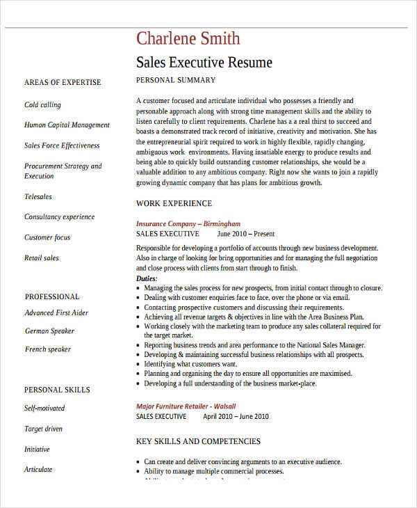 47  basic sales resume