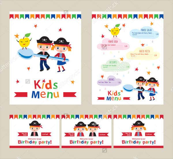 7 Kids Party Invitations JPG PSD Vector EPS AI Illustrator – Kids Pirate Party Invitations