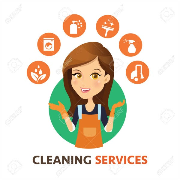 Cleaning Maid Service Logo