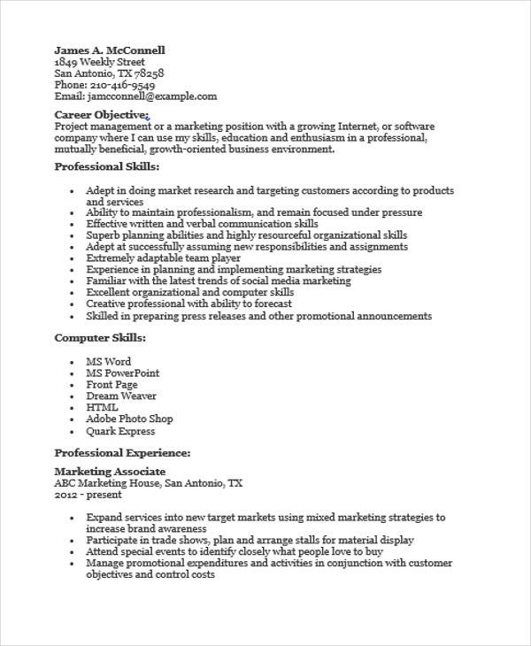 marketing sales associate resume3