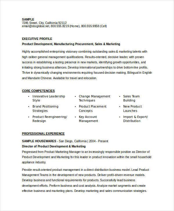 product marketing executive resume1
