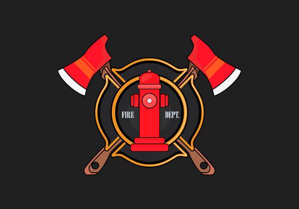 fire service logo vector
