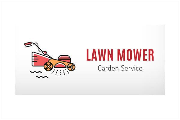 Lawn Mowing Service Logo