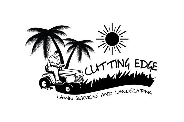 lawn cutting service logo