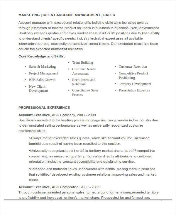 marketing account executive resume6