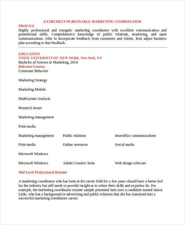 42+ Best Marketing Resume   Free & Premium Templates
