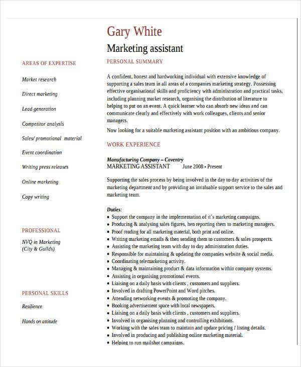 27+ Marketing Resume Templates in PDF | Free & Premium Templates