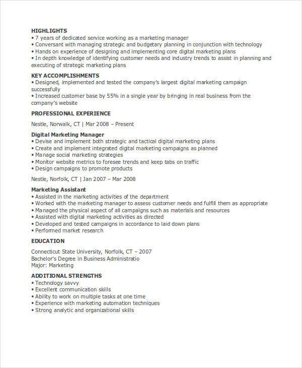 digital marketing manager resume5