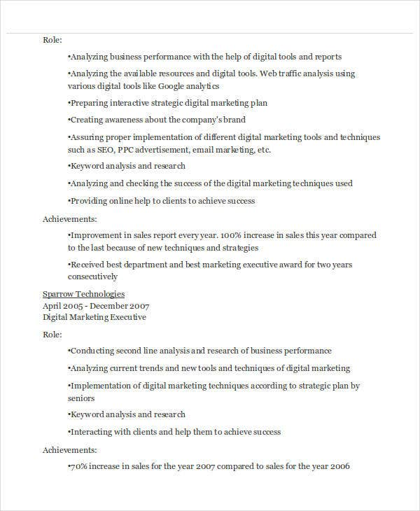 digital marketing executive resume3
