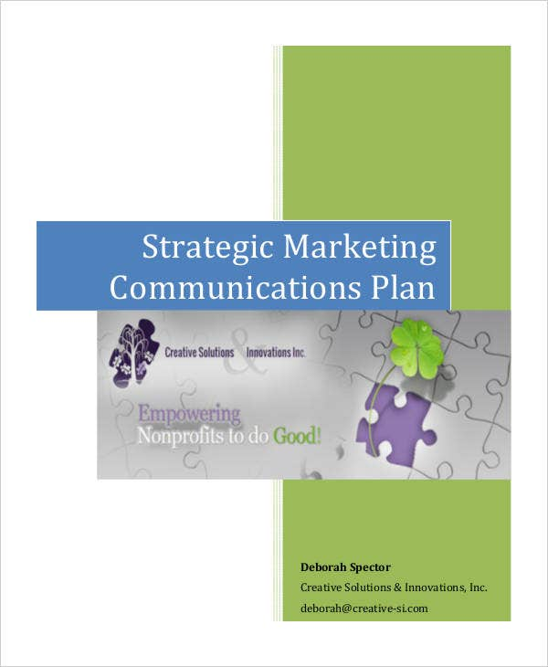 strategic marketing communication plan1