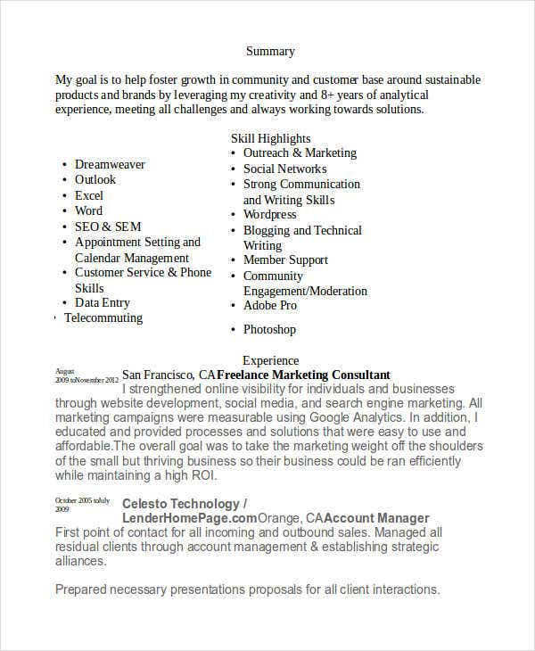 41  best marketing resume