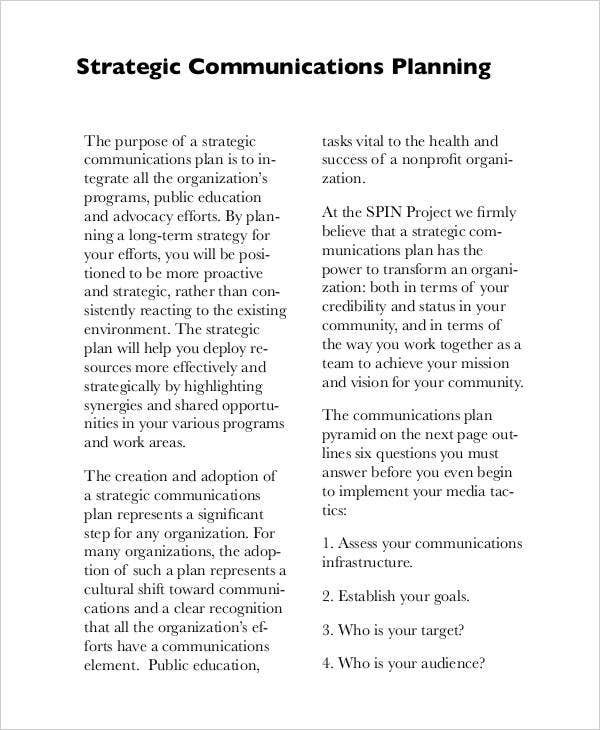 strategic corporate communication plan1