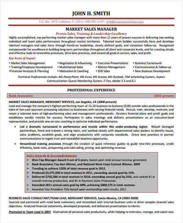 marketing sales manager resume3
