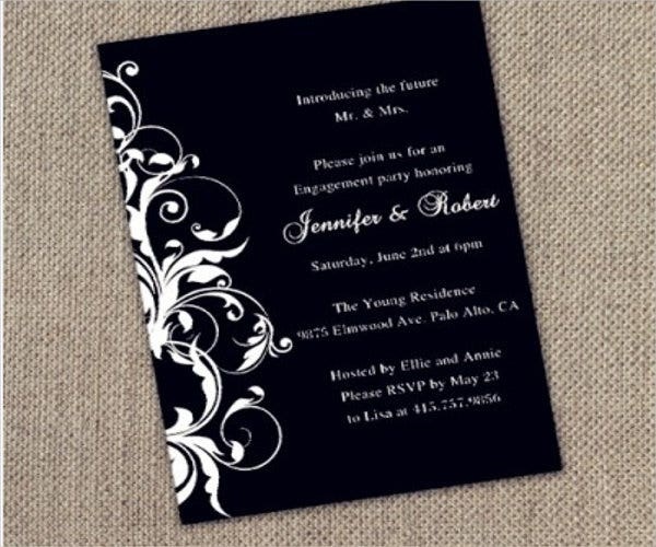 9 Black And White Party Invitations Jpg Psd Vector Eps Ai