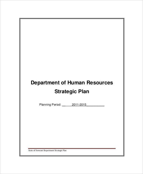 hr department strategic plan