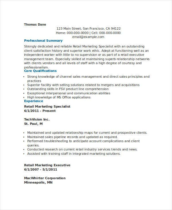 retail marketing specialist resume3