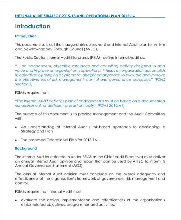 3 year strategic internal audit plan1