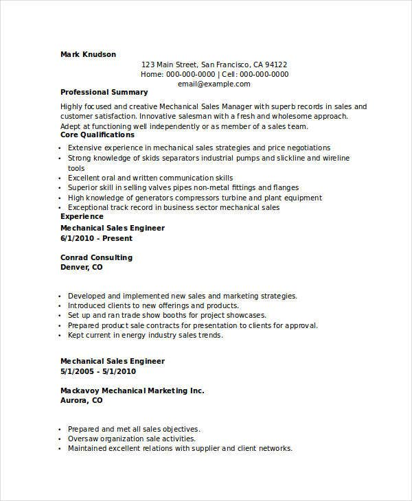 mechanical marketing engineer resume2
