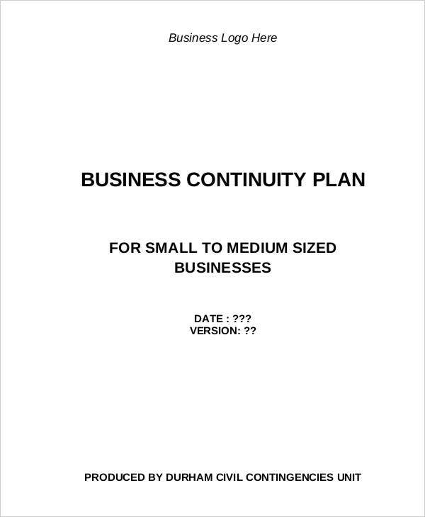 business continuity action plan