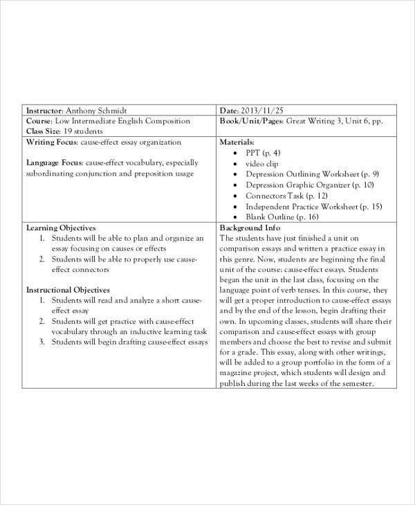 Writing an admission essay lesson plan