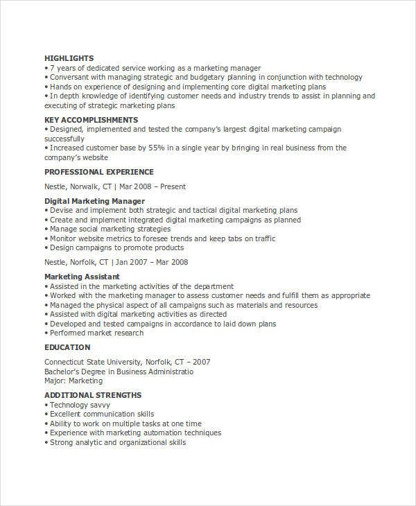 23 marketing resume templates free premium templates