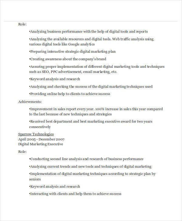 digital marketing executive resume5