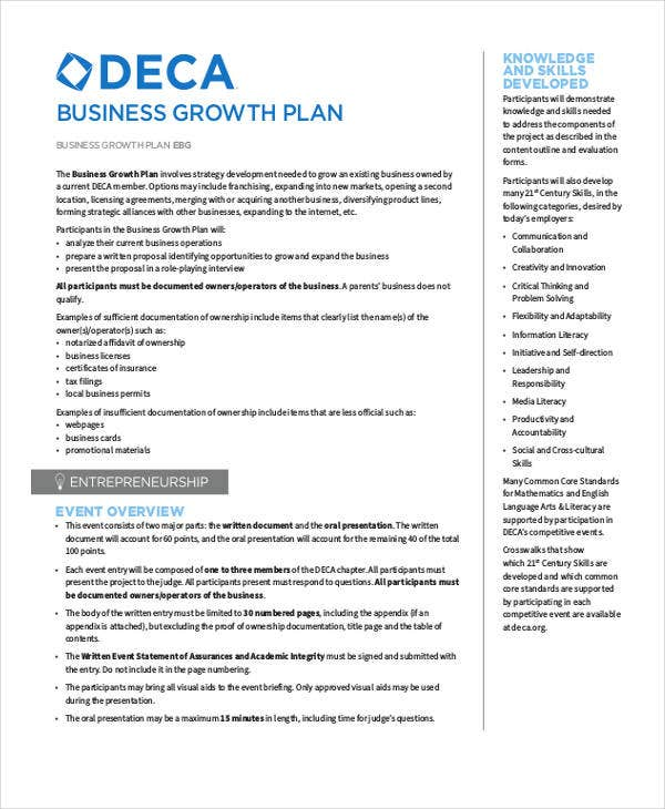 Strategic Plan Samples Free Premium Templates - Business growth plan template