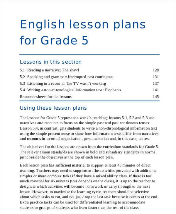Lesson Plan Samples  Free  Premium Templates