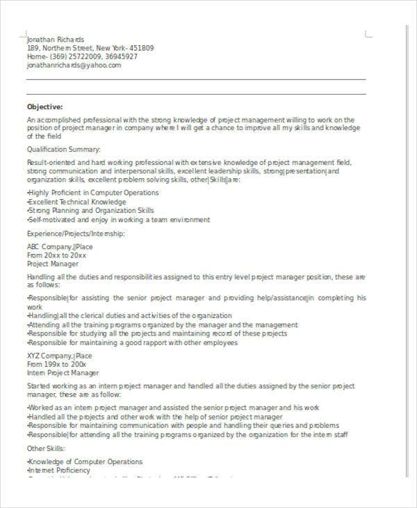 27  it resume samples
