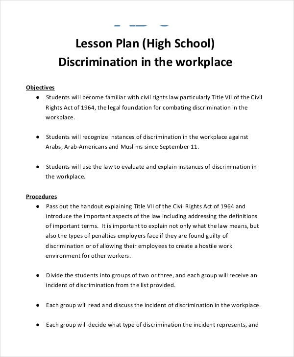 high school lesson plan template pdf