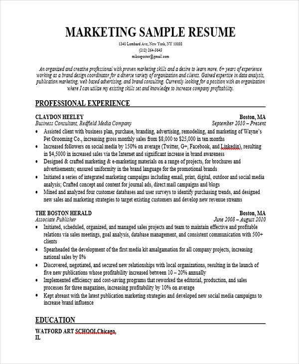experienced it marketing resume1