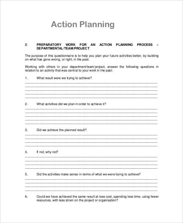 project management action plan