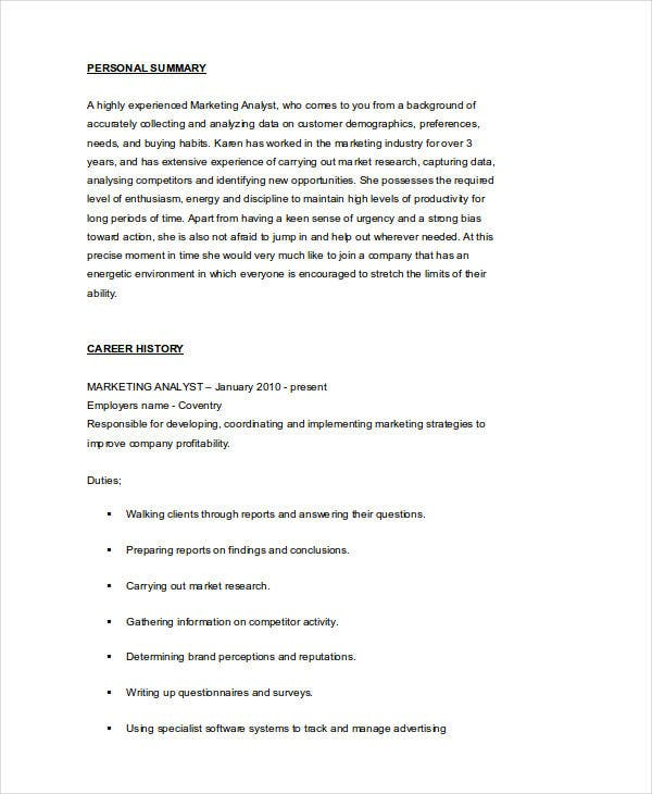 marketing research analyst resume5