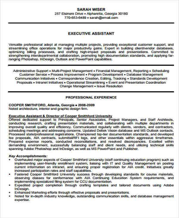 it executive assistant resume4