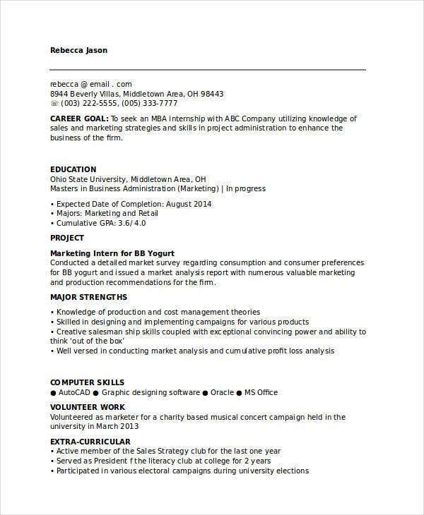 Marketing Resume Samples- 47 Free Word, Pdf Documents Download
