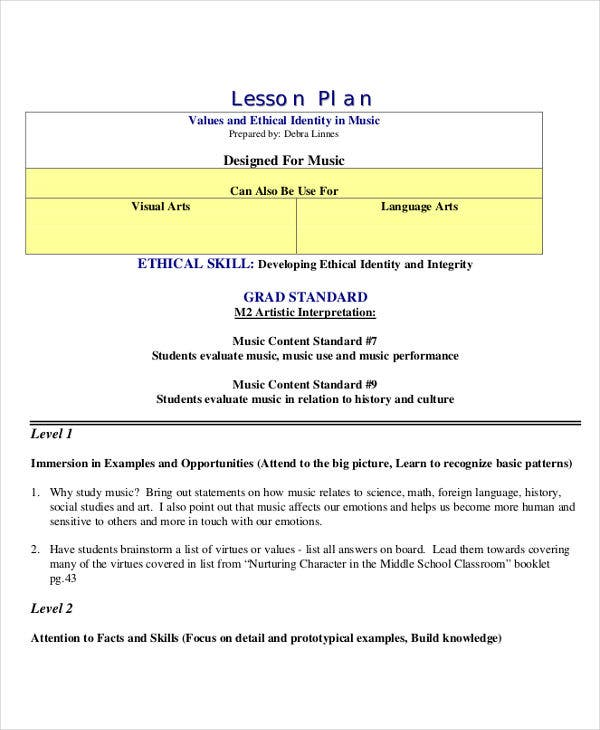 40+ Lesson Plan Samples | Free & Premium Templates