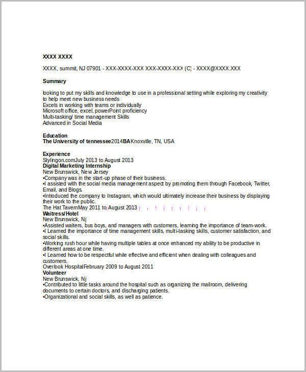 45 Marketing Resume Templates Pdf Doc Free Amp Premium