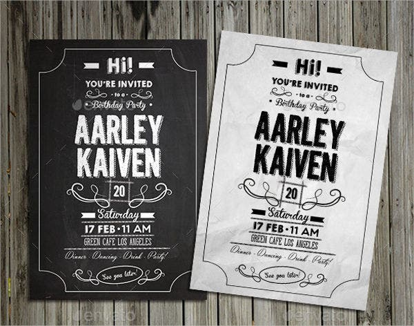 12  black-and-white party invitations