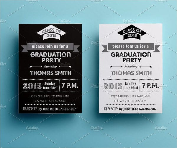 black-and-white-graduation-party-invitation