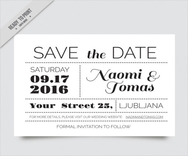 10 BlackandWhite Party Invitations Free Sample Example Format