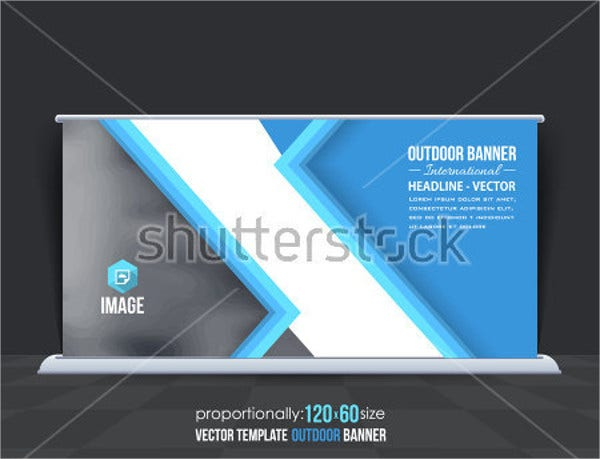 horizontal pop up banner