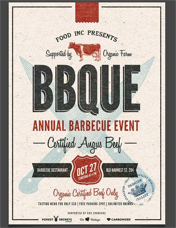 BBQ Event Advertising Poster